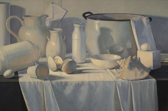 """Eileen Eder Painting Still Life Landscape Archival Prints Connecticut"" Such a serene, white painting. Everything is meticulous and clean, lucid and vivid."