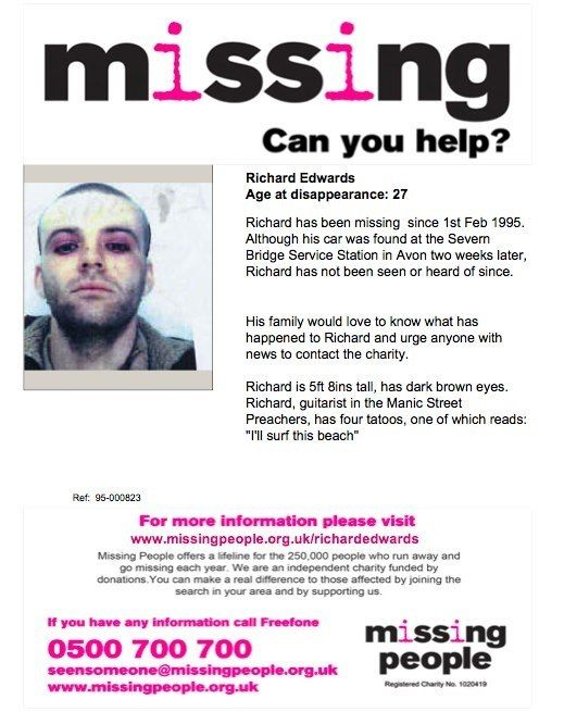 The Manic Street Preachers Amazing Things Pinterest   Make A Missing Poster  Make Missing Poster