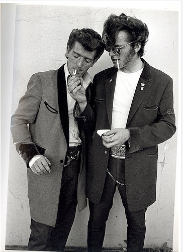 Teddy boys. These boys were a part of subculture that like to dress similar to dandies in the Edwardian period.