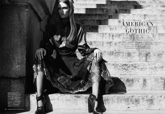 American Gothic   Caroline Brasch Nielsen   Benny Horne #photography   Harper's Bazaar Australia September 2012
