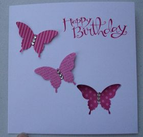 MaKing Papercrafts: Butterflies One is inside the card