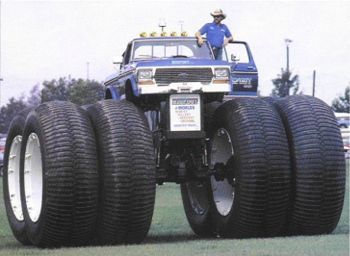 monster mud trucks   ... holds the record for the tallest, widest, and heaviest pick-up truck