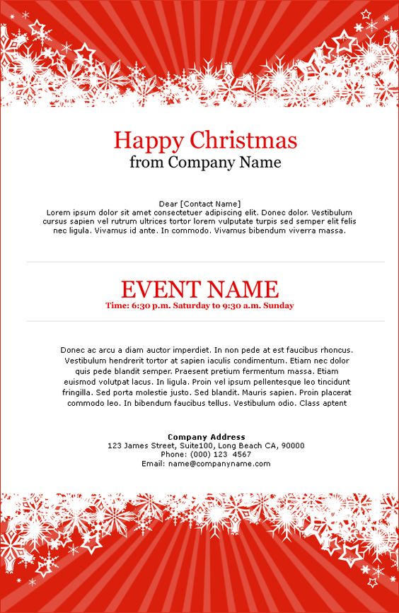 Email Templates - Feiertage - Christmas Event - I