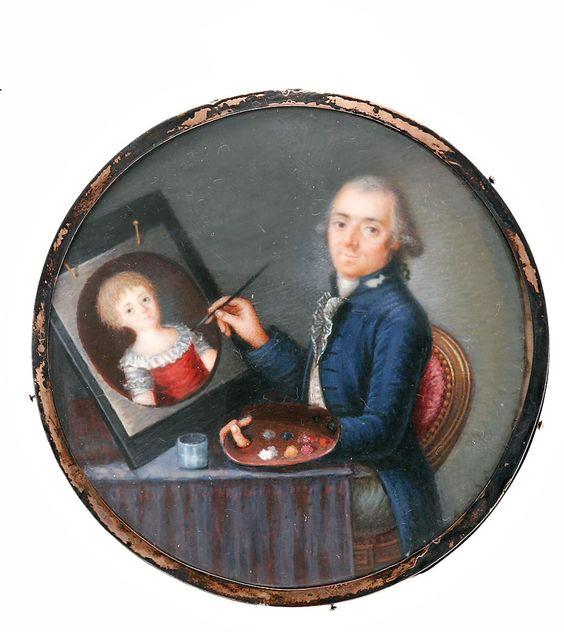 Siglo XVIII. Gouache sobre marfil. Escuela europea.: