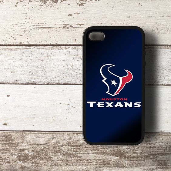 NFL HoustonTexans Blue 1 HYBRID iPhone 4 4s Case Cover BLACK - PDA Accessories