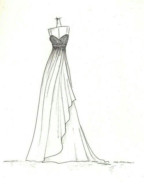 Kolay Resymler Cizimi Elbise