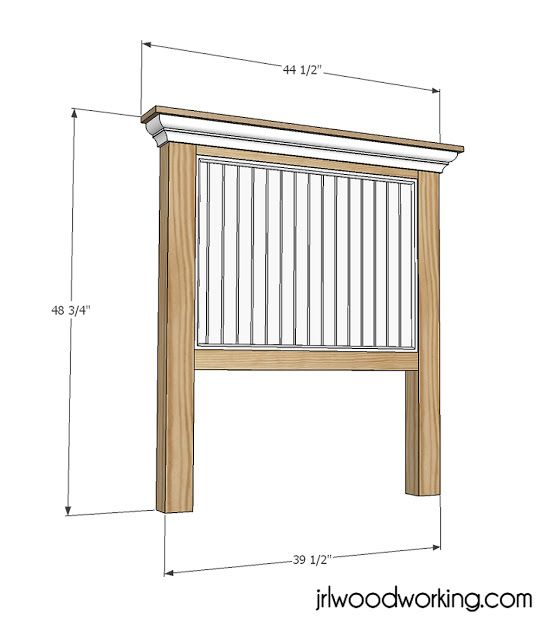 Ana white build a twin bed beadboard headboard free and easy diy project and furniture plans - Simple twin bed frame plans ...