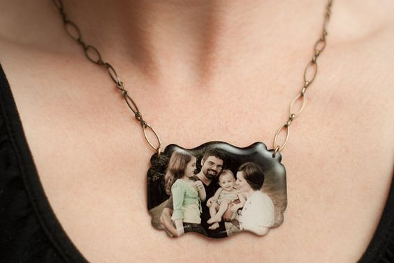 Made to order vintage style photo necklace. Great gift idea!  This is made by a friend of mine and it is AWESOME!