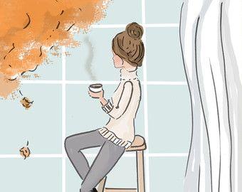 Arte para las mujeres hacer tiempo para por RoseHillDesignStudio