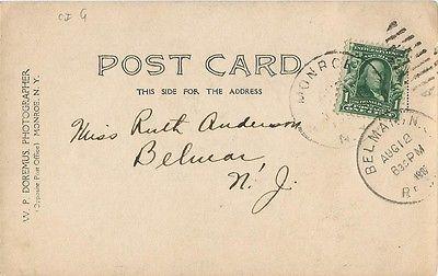 Monroe, NY New York 1907 RPPC Postcard, Camp Comfort, Mombasha Lake