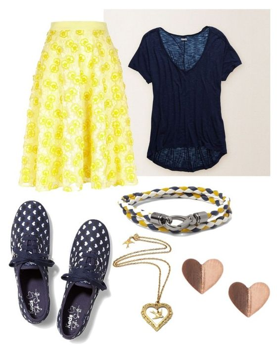"""""""Flourishing Flowers!"""" by aegpeace ❤ liked on Polyvore featuring Aerie, River Island, Keds and Tod's"""