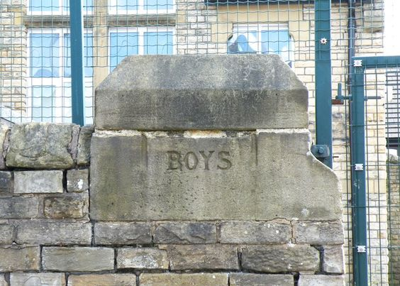 Boys Gatepost to St Mary's CE Primary School, Cundy Street, Walkley, Sheffield by Terry Robinson, via Geograph