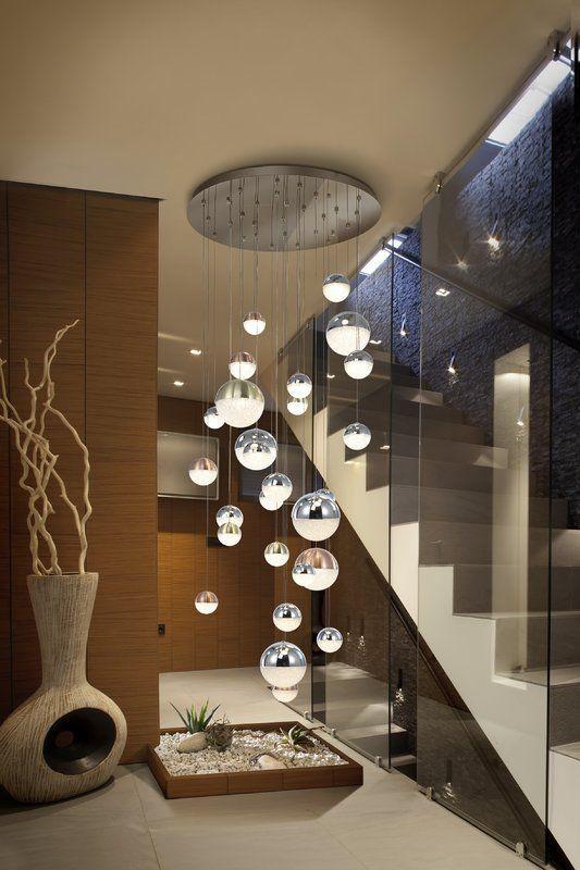 Sphere Led Cluster Pendant In 2020 Staircase Lighting Ideas