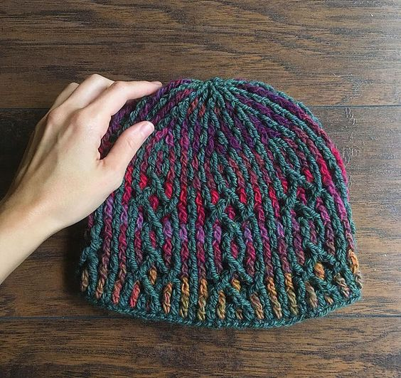 Make this stunning hat by Mamachee with Lion Brand Wool-Ease and Amazing! Makes a fantastic gift!