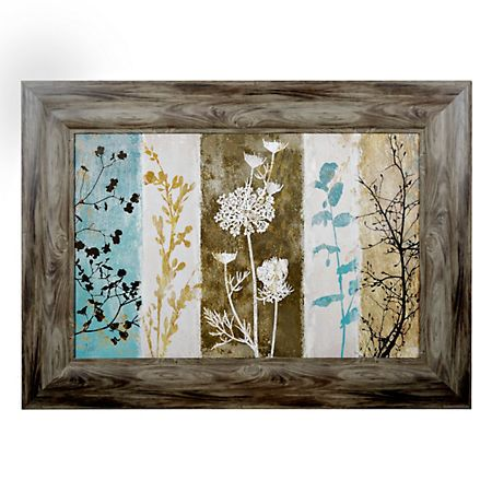 Rustic Floral Silhouette Framed Art Print | Kirklands
