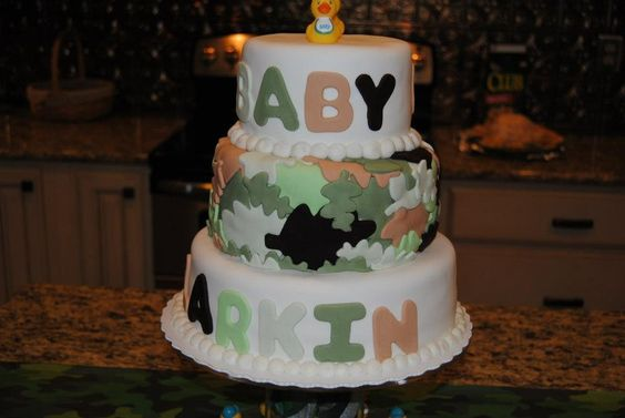 Duck Dynasty  baby shower cake: