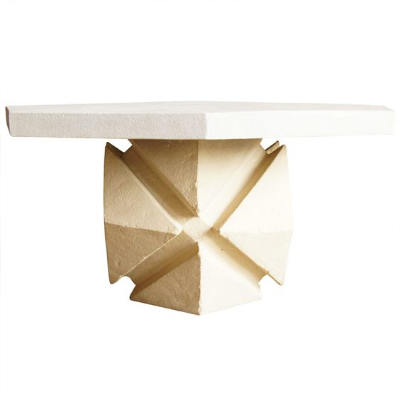 Moderne Cast Stone Geometric Dining Table by Robert Hutchinson: