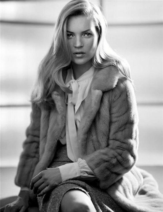 W June 2004 Noir. Photographer: Craig McDean Fashion Editor: Alex White Model: Kate Moss: