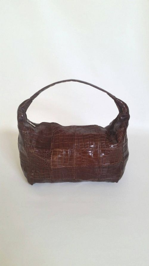 Rustic Brown Leather Shoulder Bag Textured Handbag Casual Bags rosses2