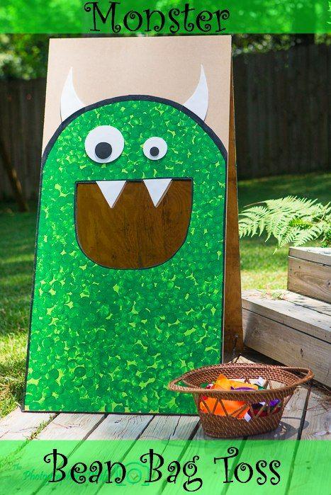 Monster bean bag toss for a monster birthday party!