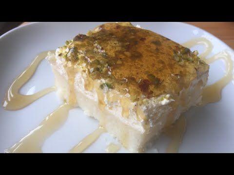 ليالي لبنان بالسميد مع كريمة الفانيليا والفستق الحلبي Youtube Breakfast Food Desserts