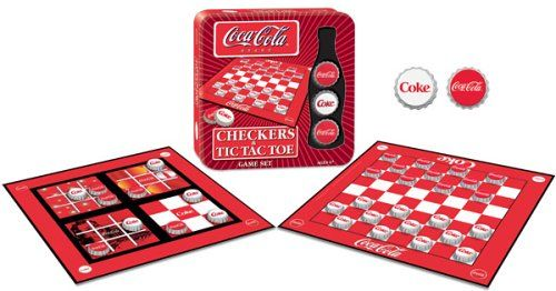 Coca-Cola Checkers/Tic Tac Toe Combo Game USAopoly https://www.amazon.com/dp/B000F0H81Y/ref=cm_sw_r_pi_dp_x_8rdbybNM4KHX5