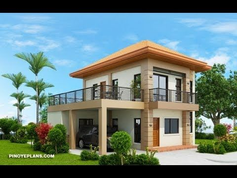 5 Elegantly Simple Two Storey House With Floor Plans Bahay Ofw One Storey House 2 Storey House Design Flat Roof House