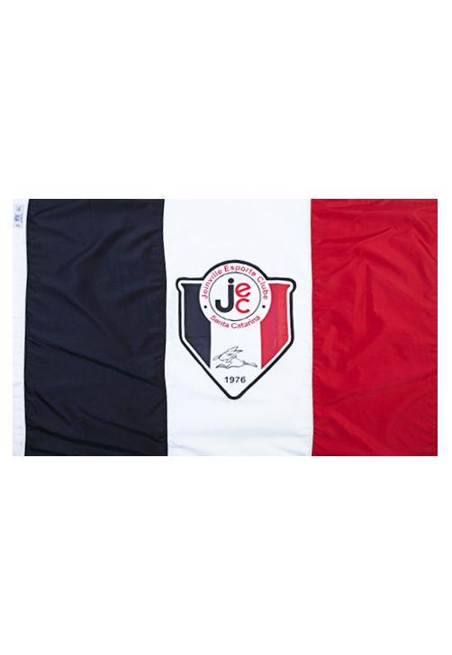 Bandeira Joinville 2 Panos 128x090 Branca Preta Vermelha