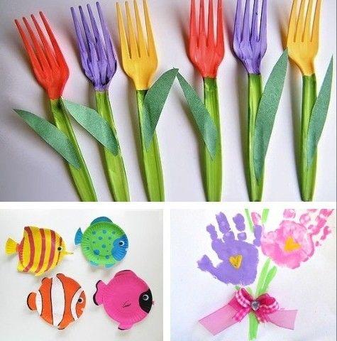 Manualidades Para Los Ninos De La Casa In 2020 Spring Crafts For Kids Spring Crafts Spring Diy