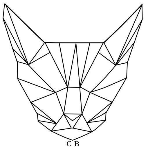 Геометрический кот эскиз