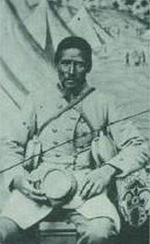 """Marlboro"" African-American bodyservant to white Confederate soldier"
