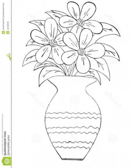 31 Ideas For Flowers Vase Drawing Beautiful Drawing Flowers Flower Vase Drawing Flower Drawing Pencil Drawing Pictures