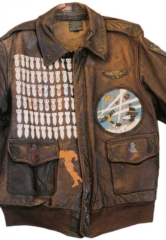 WW2 Vintage Bomber jacket  WW2   Pinterest   Vintage Leather