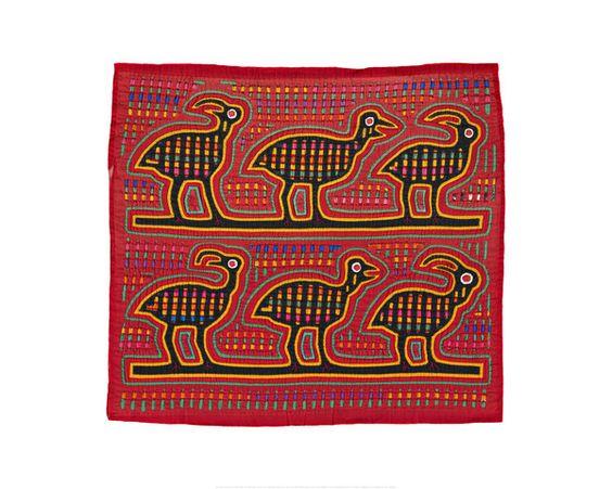 Kuna Indians (Panama) - Shirt Panel (Mola) - Art Prints from MOLA