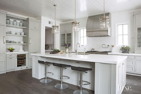 white and light grey kitchen - Google Search