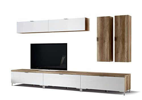 CS Schmalmöbel 45.150.505/043 3x TV-Board Cleo Typ 10 + 4 Hängeregale, 218 x 50 x 175 cm, wildeiche / weißglas CS Schmalmöbel http://www.amazon.de/dp/B00M6B5IGC/ref=cm_sw_r_pi_dp_SZRBvb1B5VV5J