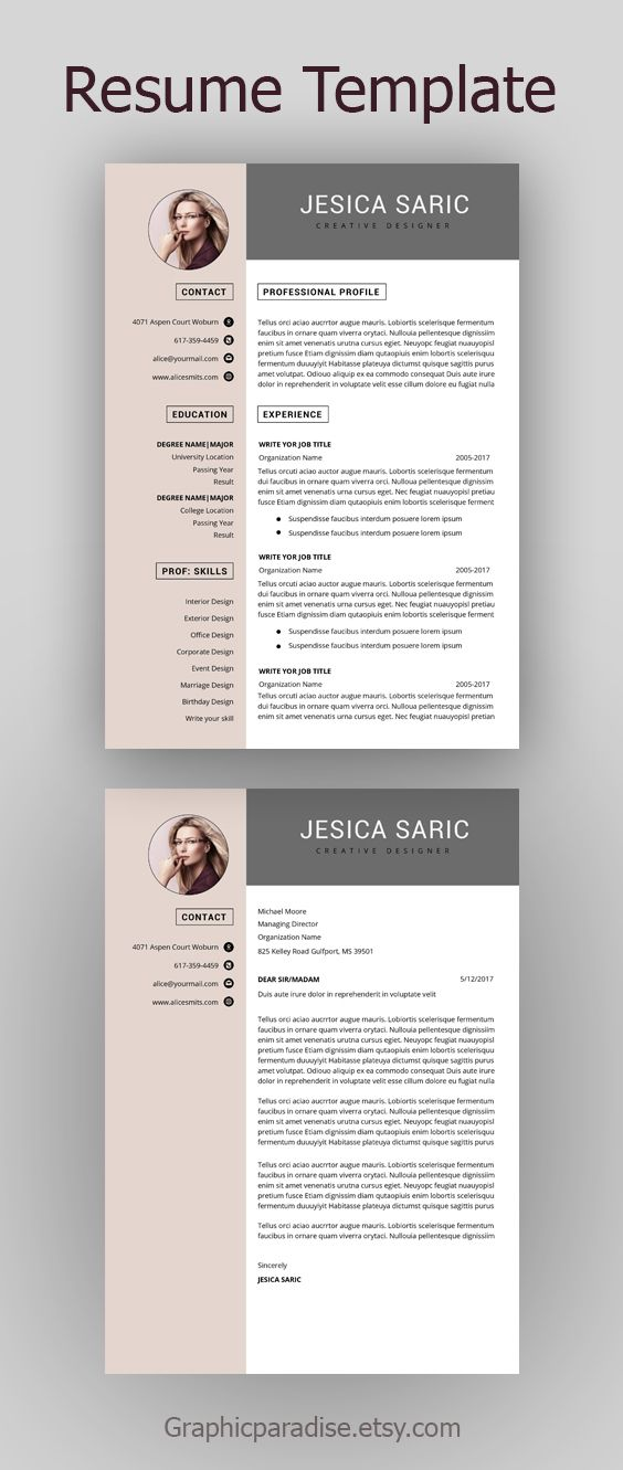 Professional Resume Template Instant Download 3 Page Resume Etsy Resume Template Professional Resume Template Job Resume Template