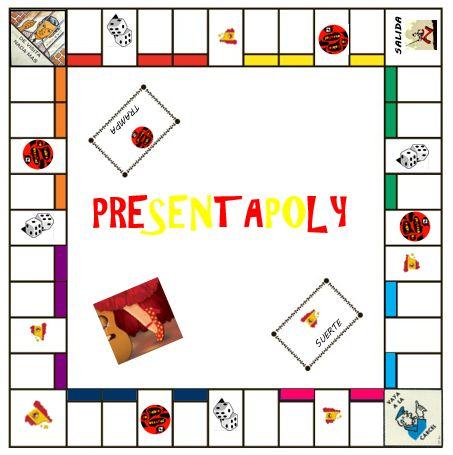 Je voulais revoir comment on se présente en espagnol avec mes élèves de 3ème. Voici le jeu que je vais leur présenter à la rentrée. Il s'agit d'un plateau du très célèbre Monopoly en version espagnole. Ce jeu permettra de revoir: - savoir se présenter...