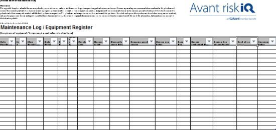 Equipment Maintenance Log Template 20 Free Templates In Word