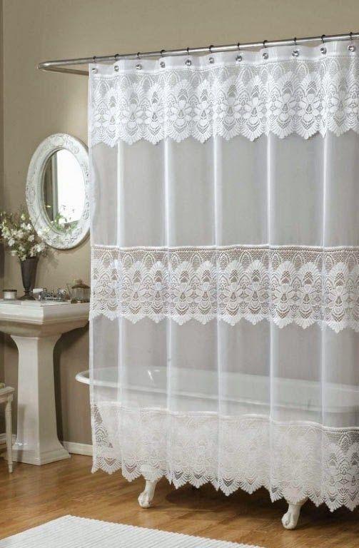 curtain ideas ricardo romance lace white lace fabric shower curt bathroom curtains. Black Bedroom Furniture Sets. Home Design Ideas