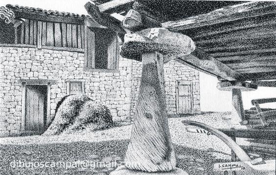 Hórreo. Colección paisajes a plumilla. Año 2010
