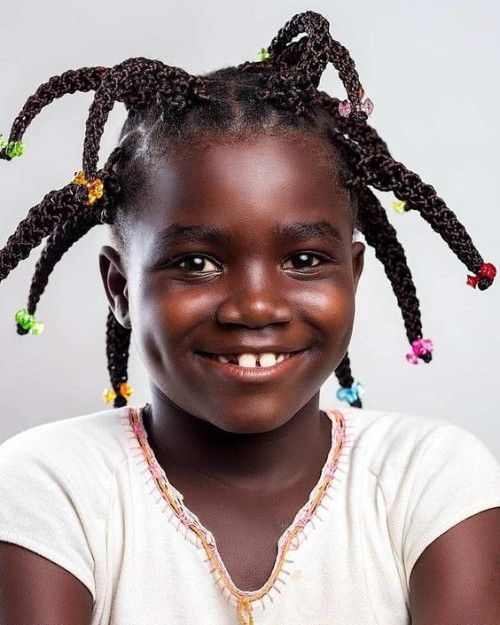 Black Kids Hairstyles With Beads With Images Kids Hairstyles