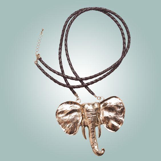 Sharing Happens • Pin a gift • Parfois • Collar largo moca elefant Q179
