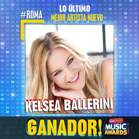 """¡Muchas felicidades a Kelsea Ballerini por """"Mejor artista nuevo"""" este año en los #RDMA 2016!"""