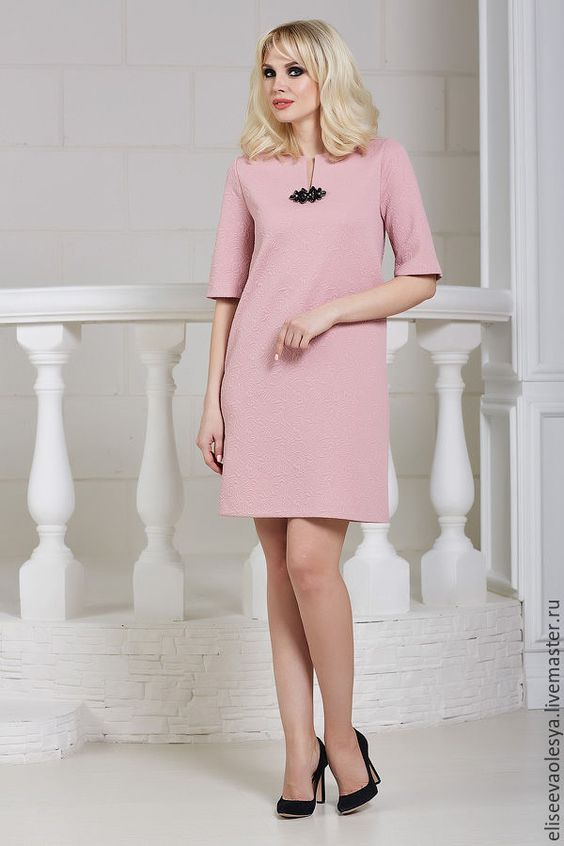 Купить платье из фактурного трикотажа