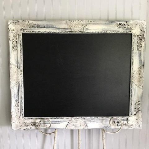 Farmhouse Distressed Chalk Board Memo Board Kitchen Memo Board