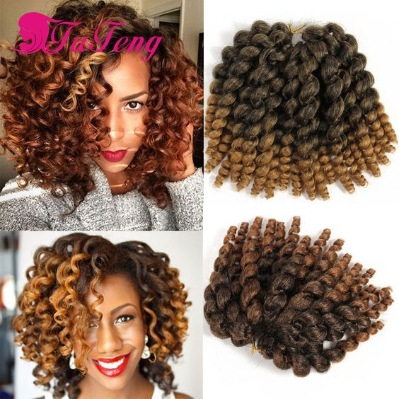 Wand curl crochet braids xpression braiding hair crochet braid hair senegalese havana twist - Crochet braids avec xpression ...