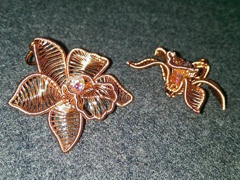 How To Make A Copper Flower 3d Pendant Free Tutorial With Pictures On How To Make A Pendant Necklace Handmade Wire Jewelry Wire Wrapped Jewelry Wire Jewelry