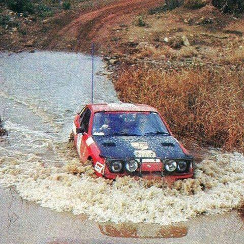 Porsche rally car in australia