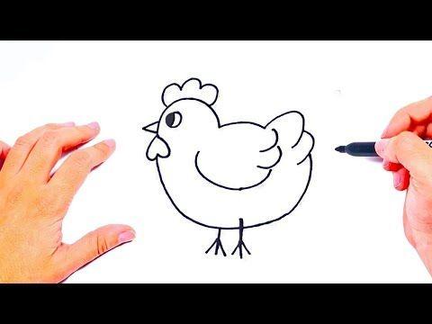 Como Dibujar Un Gallina Dibujos De Animales De La Granja